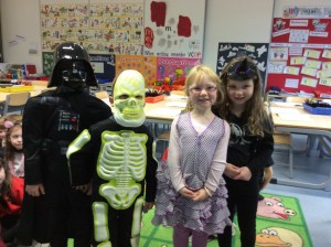 I wonder who is under those masks beside Amy N and Evie?