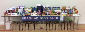 We displayed all our food bank donations at assembly today. We are proud of how much we have managed to collect.